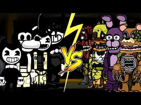 TEAM BATIM vs TEAM FNaF (Scribblenauts Unlimited battles)