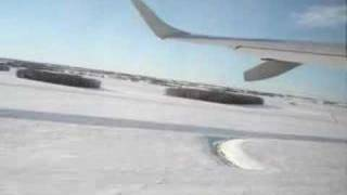Takeoff at Edmonton International Airport