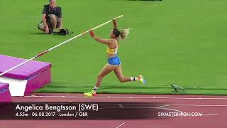 Angelica Bengtsson (SWE) - 4.55m at World Championships London 2017