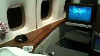 cathay pacific first class suite 1a on 747 400