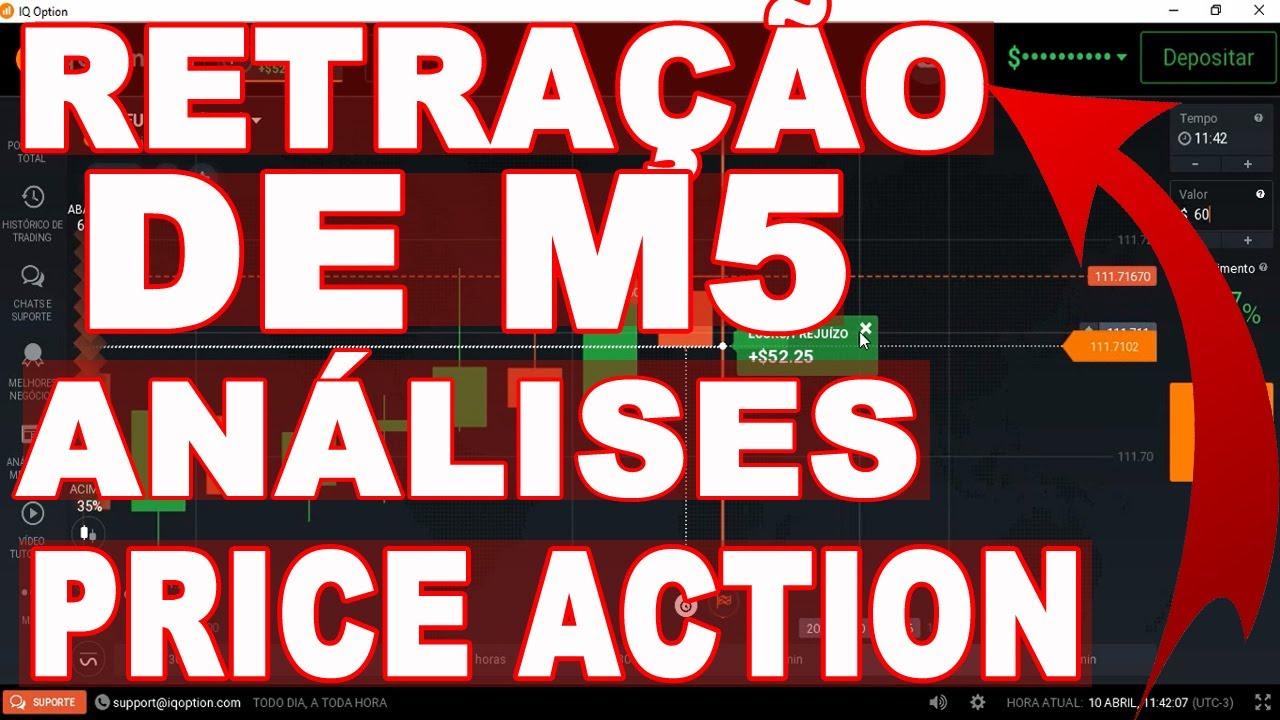 IQ OPTION : RETRAÇÃO DE M5 À FAVOR DA TENDÊNCIA