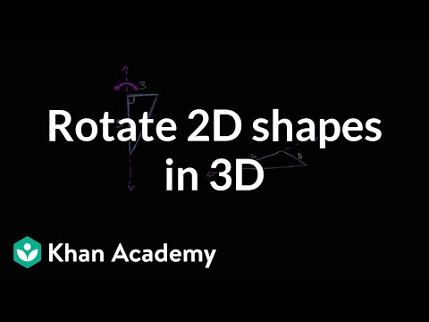 Rotating 2D shapes in 3D | Perimeter, area, and volume | Geo