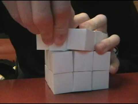 Exceptionnel Paper Mechanics: 3 x 3 x 3 Rubik's Cube - YouTube PK76