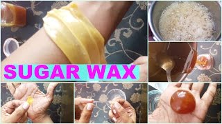 How To Make Sugar Wax At Home   Natural Hair Removal At Home   Sugar Wax Live Demonstration