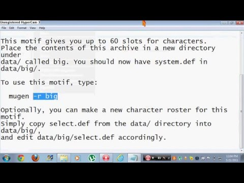 How to add more characters slots in mugen