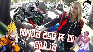 TEST Kawasaki Ninja 250 R - Sono riuscito a provare la moto della ragazza !!! 💪 + 0 - 100 km/h!! 👺
