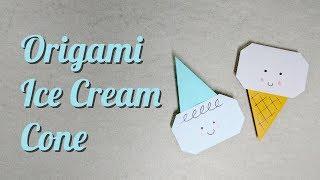 Origami Tutorial: Ice Cream Cone / Kid with Party Hat (Mizutama)