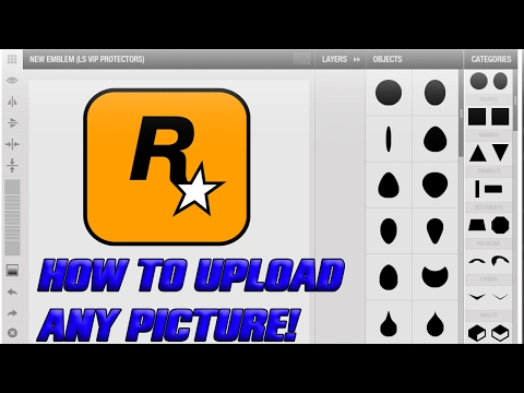 GTA Online - How To Upload Custom Images For Your GTA Crew Emblem!