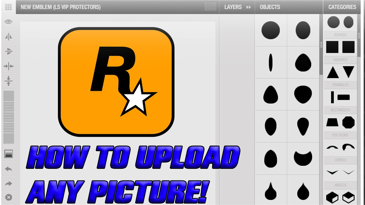 Gta Online How To Upload Custom Images For Your Gta Crew Emblem Paid