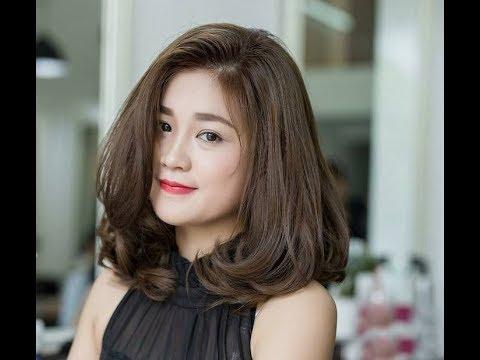 16 kiểu tóc ngang vai uốn xoăn phong cách Hàn Quốc đẹp nhất
