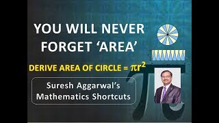 Remember AREA for Life ## Derive Area of Circle Formula