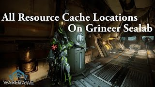 Warframe | All Resource Cache Locations On Grineer Sealab (Sabotage)