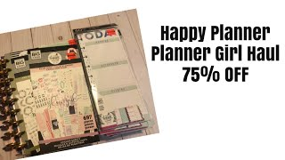 Happy Planner 2020 Planner Girl Haul   75 Off