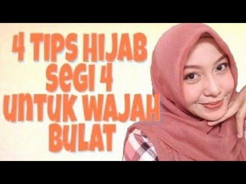Tips Hijab Segi Empat Untuk Wajah Bulat Youtube