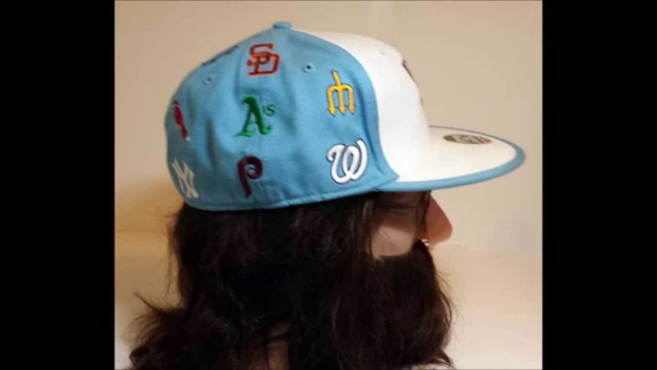 c08a0a197d9 Baseball Cooperstown Collection Fitted Hat  RARE  15 logos Size  7 1 ...