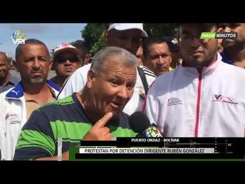 Venezuela - Trabajadores de Guayana rechazaron la detención del dirigente Rubén González - VPItv