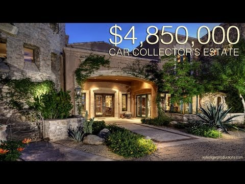 4.85 Million Dollar Car Collectors Dream Home - Scottsdale, Arizona