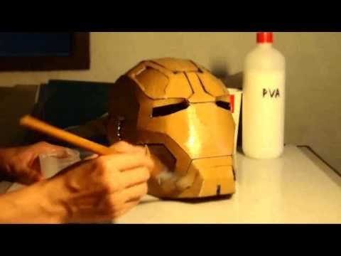 #31: Iron Man Mark 42 Helmet Part 5 - Soften, Harden Cardboard | How To | Dali DIY