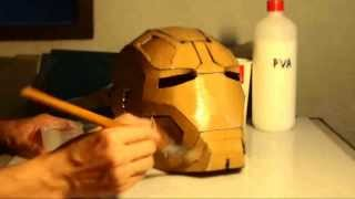 #31: Iron Man Mark 42 Helmet Part 5 - Soften, Harden Cardboard | How To | Dali DIY