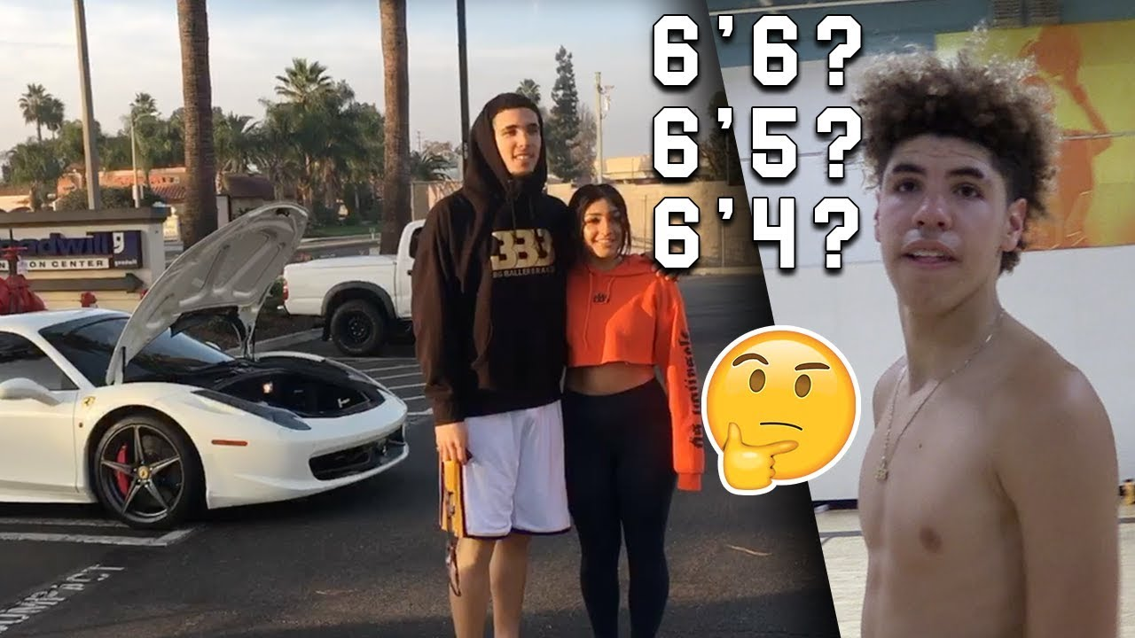Lamelo Ball Answers How Tall He Is Liangelo Showing Off Ferrari With Fans Youtube Lonzo ball is stepping up as big brother to help lamelo get his beloved jersey number. lamelo ball answers how tall he is liangelo showing off ferrari with fans