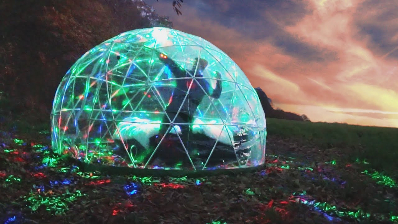 I Spent the Night in a Bubble \u0026 It Was the Best Night of My Life (Sleep in  a Garden Igloo Challenge)