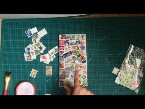Decorating Travelers Notebook Insert | Reuse Postage Stamps