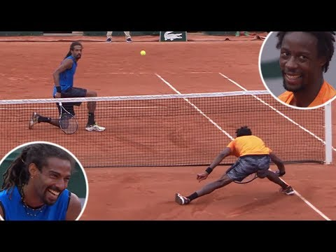 The Tennis Match That Turned Into a Circus Show | Gael Monfils VS. Dusti... one of the funniest matches id ever seen at the time