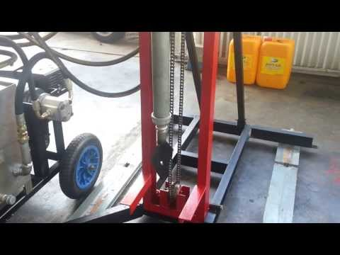 PORTABLE HYDRAULIC TUBEWELL DRILLING MACHINE PART 1