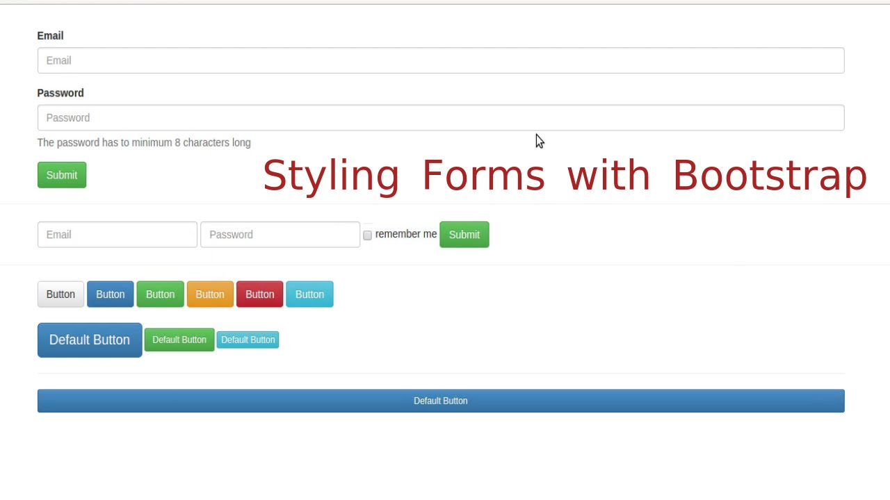 Bootstrap 3 lesson 3 forms youtube bootstrap 3 lesson 3 forms falaconquin