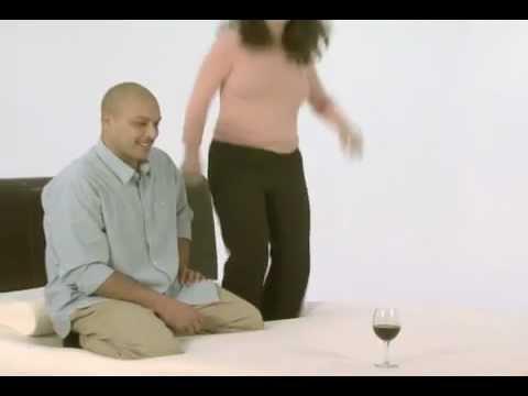 Tempur-Pedic Wine Glass Test