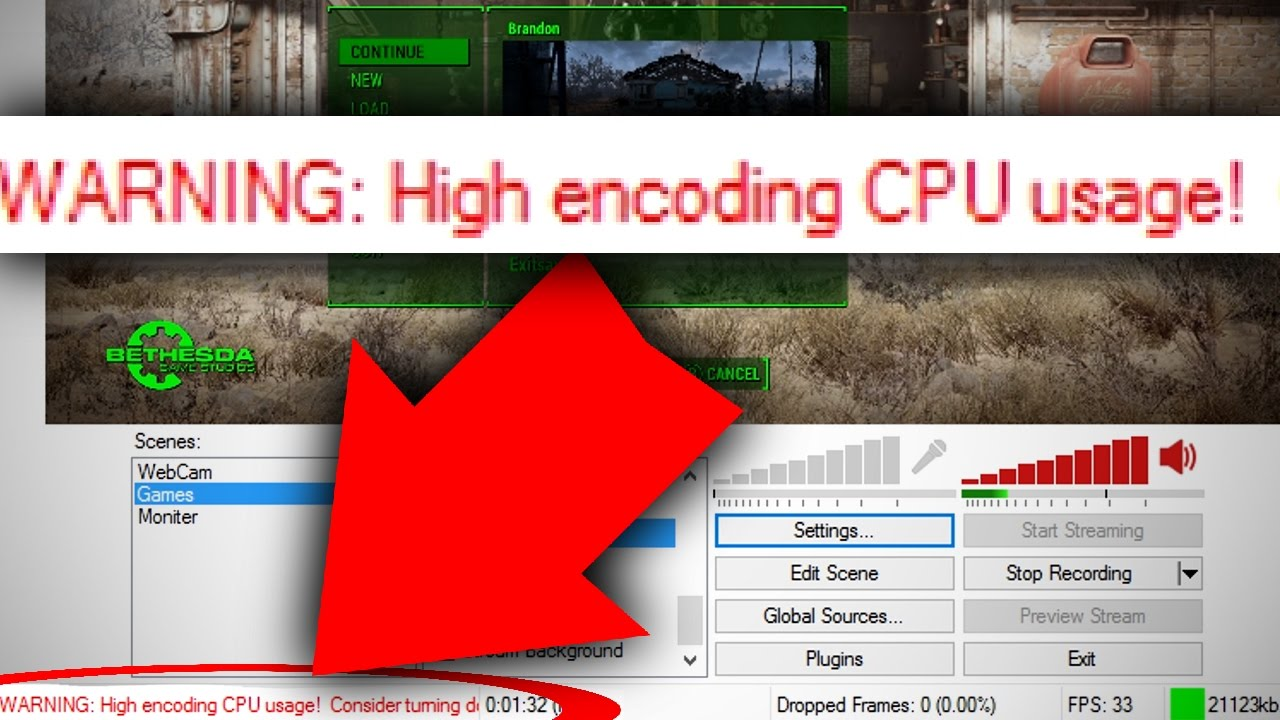 Obs using a lot of cpu