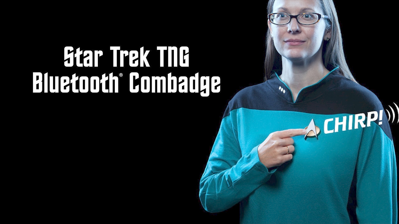 f0a51585a71d59 Star Trek TNG Bluetooth ComBadge - Exclusive from ThinkGeek - YouTube