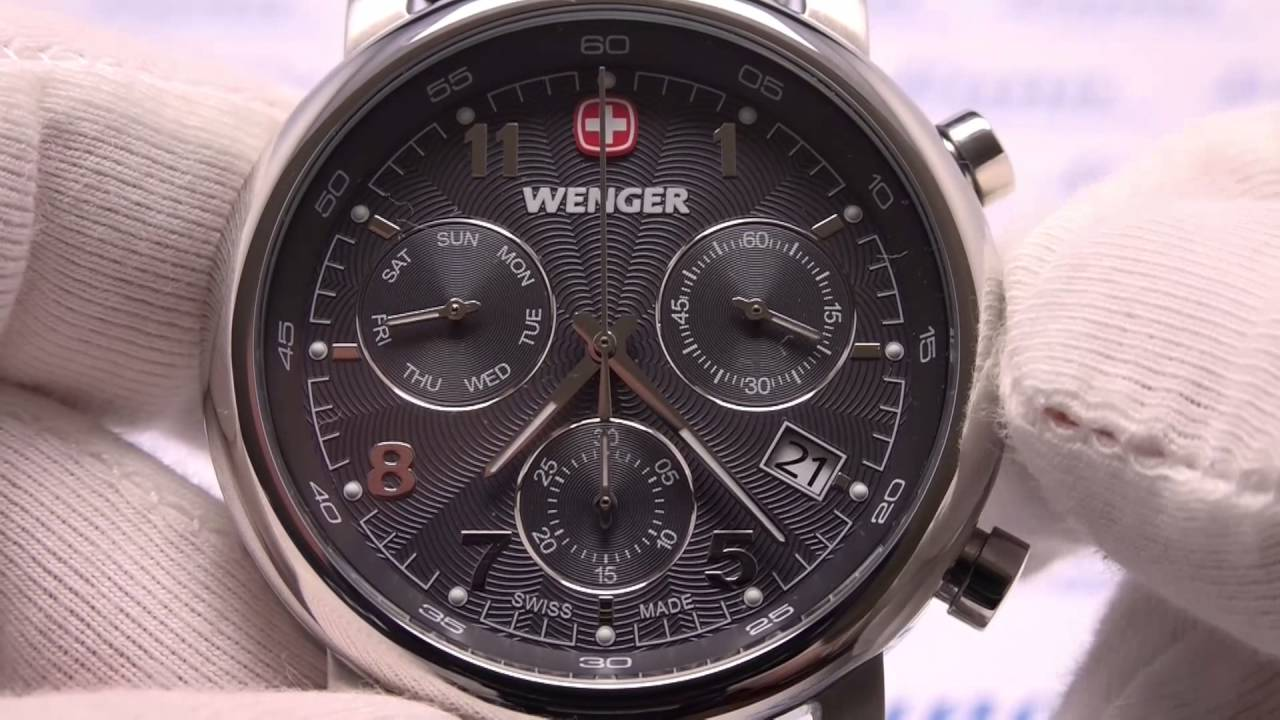 wenger urban classic chronograph youtube. Black Bedroom Furniture Sets. Home Design Ideas