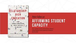 Peter Felten on affirming student capacity