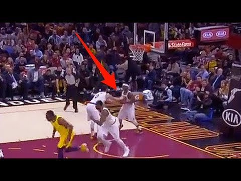 Kevin Love DISSES Isaiah Thomas - Bends over to hand him the Ball like he's a Baby!