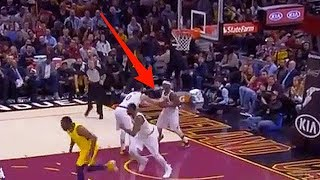 Kevin Love DISSES Isaiah Thomas - Bends over to hand him the Ball like he