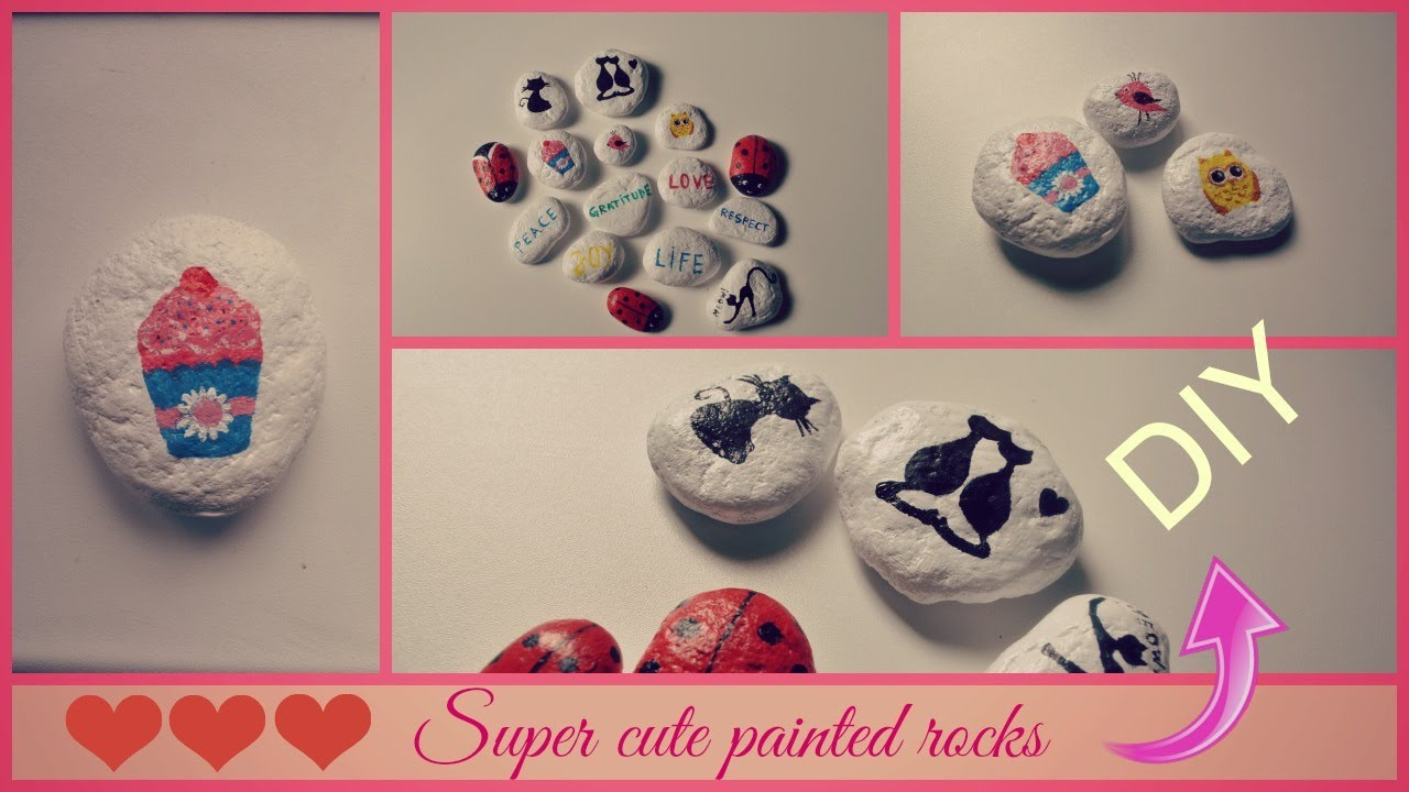 Cute And Easy Diy Painting On Rocks Youtube