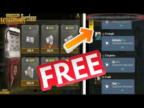 SECRET CODE TO GET FREE UC IN PUBG MOBILE - HOW TO GET FREE UC IN PUBG  MOBILE FAST AND EASY!!