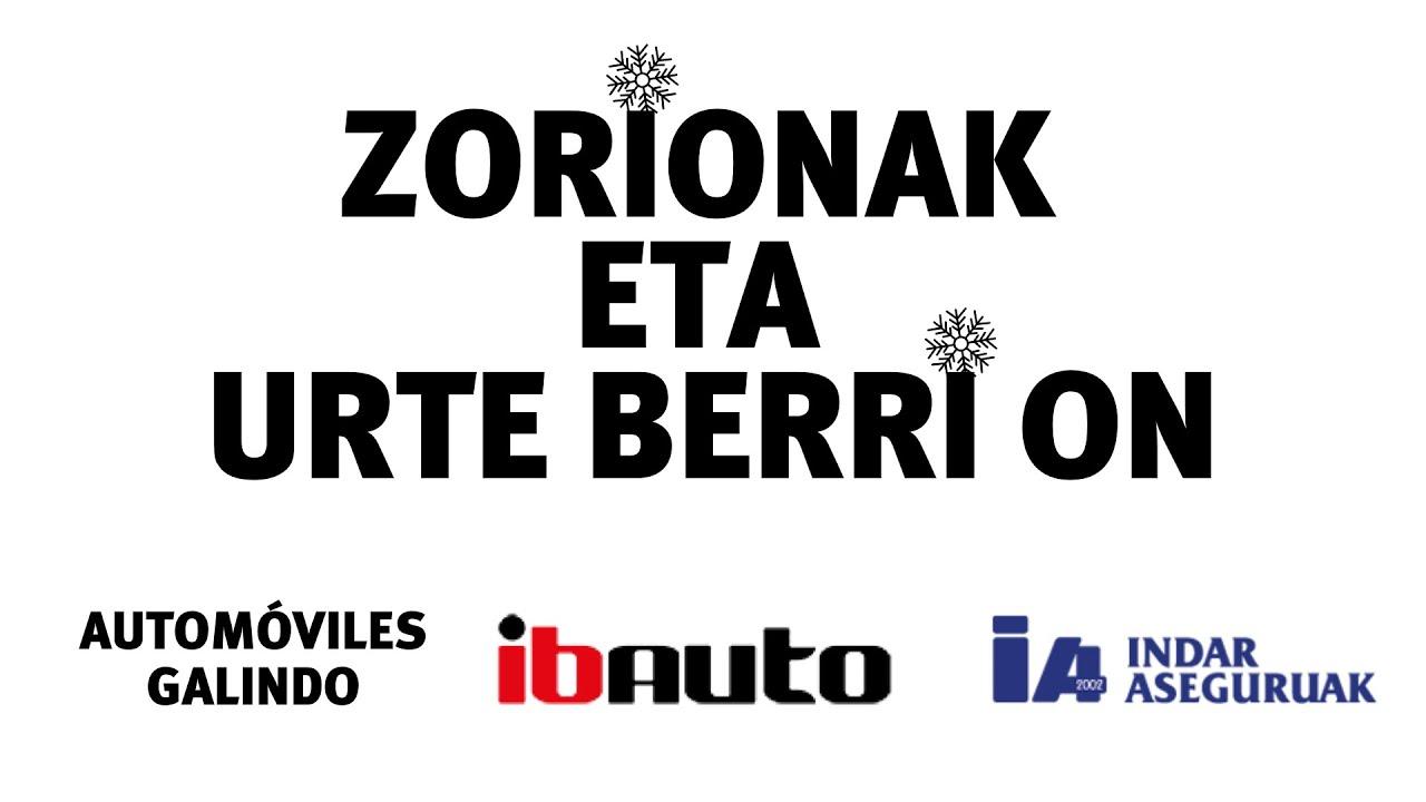 Zorionak eta urte berri 2020 on equipo Grupo Galindo Ibauto