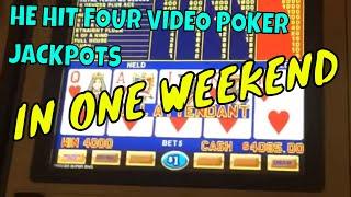 He hit FOUR Video Poker Jackpots in a Weekend *INSANE* (gambling vlog)
