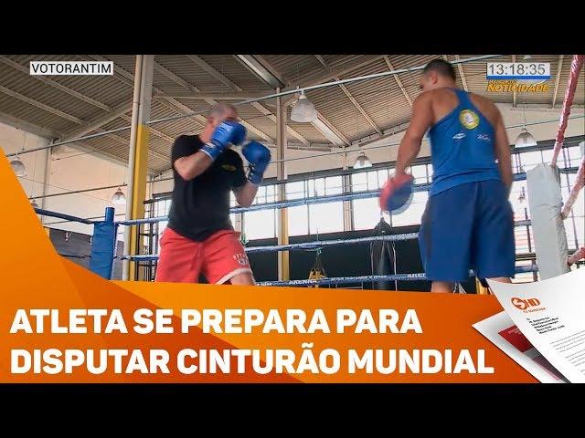 Atleta se prepara para disputar cinturão mundial - TV SOROCABA/SBT