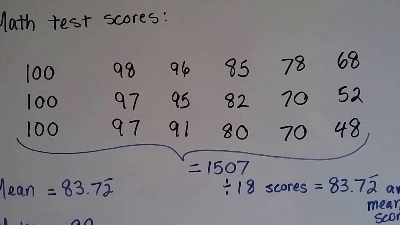 Grade 6 math 73 how to find mean median mode and range youtube grade 6 math 73 how to find mean median mode and range ccuart Gallery