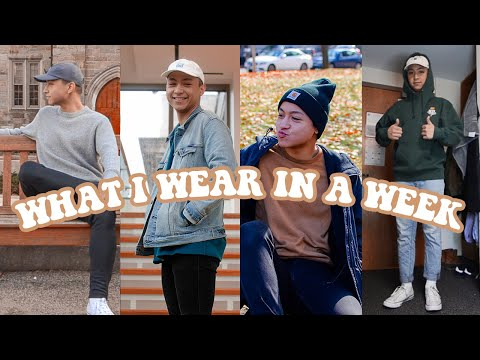 What I Wear In A Week 🌟 Mens College Fashion 2019