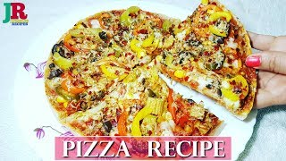 Pizza Without oven | How to make Pizza at home | Dominos Pizza Recipe | Veg Pizza
