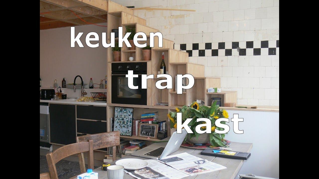 Kast In Trap : Keuken trap kast bouwen youtube