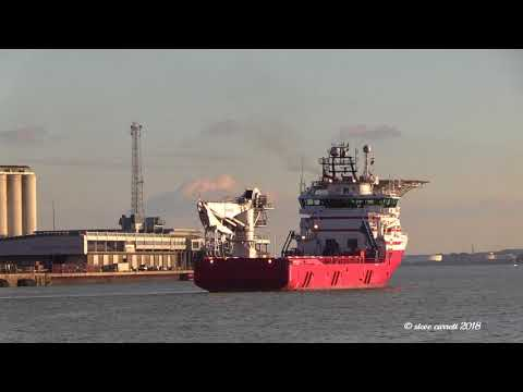 Offshore Diving Support Vessel 'Siem N-Sea' Southampton Docks  26/01/18