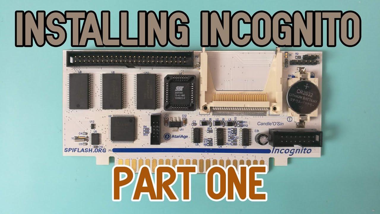 Atari 800 Installing Incognito Part One Youtube