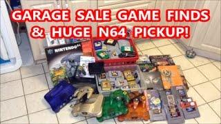 GARAGE SALE GAME FINDS & HUGE N64 PICKUP! | Scottsquatch