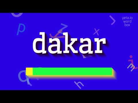 "How to say ""dakar""! (High Quality Voices)"