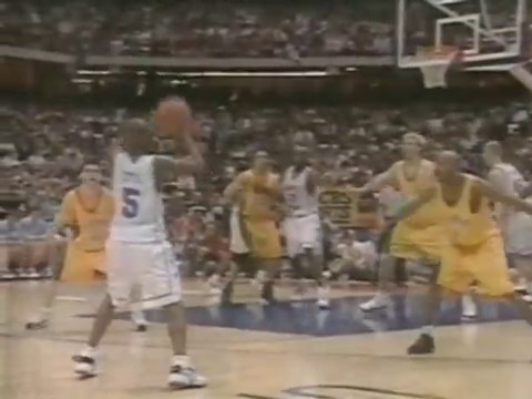 VC nice alley oop from Cota vs California 1998 College